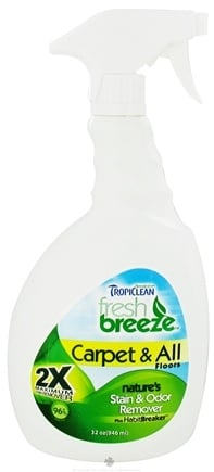 DROPPED: Tropiclean - Fresh Breeze 2X Carpet & All Floors Stain & Odor Remover - 32 oz.