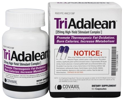 Covaxil Laboratories - Triadalean High-Yield Stimulant Complex - 60 Capsules