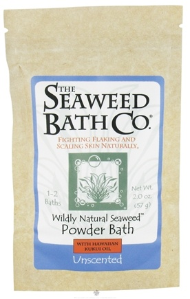 DROPPED: Seaweed Bath Company - Wildly Natural Seaweed Powder Bath with Hawaiian Kukui Oil Unscented - 2 oz. (1-2 Baths) CLEARANCE PRICED