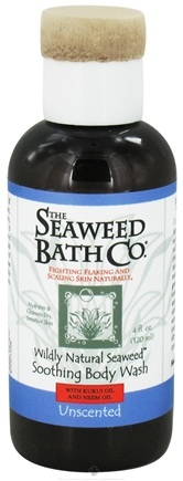 DROPPED: Seaweed Bath Company - Wildly Natural Seaweed Body Wash with Kukui Oil and Neem Oil Unscented - 4 oz. Travel Size CLEARANCE PRICED