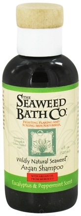 DROPPED: Seaweed Bath Company - Wildly Natural Seaweed Argan Shampoo with Argan Oil From Morocco Eucalyptus & Peppermint Scent - 4 oz. Travel Size