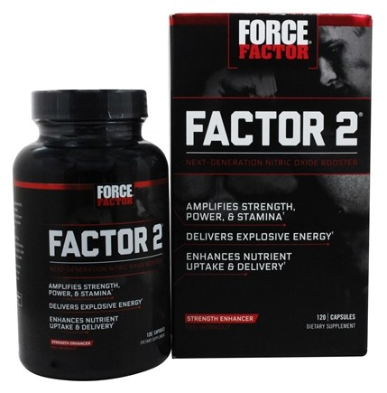 Force Factor - Factor 2 Pre-Workout Nitric Oxide Booster - 120 Capsules