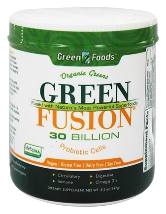 DROPPED: Green Foods - Green Fusion Organic Greens 30 Billion Probiotic Cells - 5.2 oz.