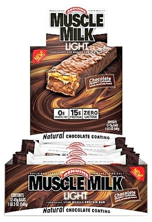 DROPPED: Cytosport - Muscle Milk Light Protein Bar Chocolate Peanut Caramel - 1.59 oz. DAILY DEAL