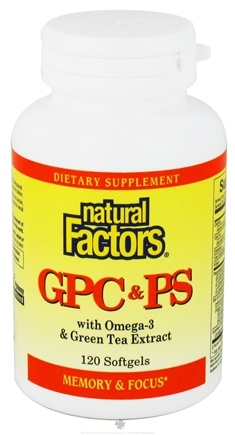 DROPPED: Natural Factors - GPC & PS with Omega-3 and Green Tea Extract - 120 Softgels