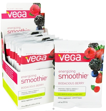 DROPPED: Vega - Energizing Smoothie Bodacious Berry -12 x .82 oz.(23.3g) Packet - CLEARANCE PRICED