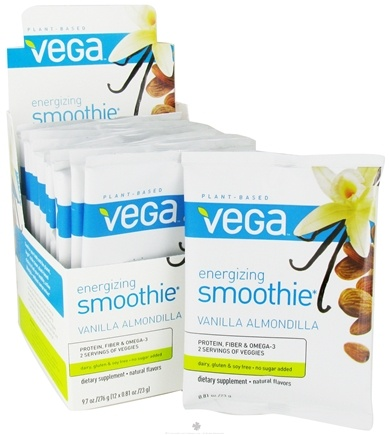 DROPPED: Vega - Energizing Smoothie Vanilla Almondilla - 12 x .81 oz. (23g) Packet - CLEARANCE PRICED