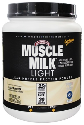 Cytosport - Muscle Milk Light Lower Calorie Lean Muscle Protein Cake Batter - 1.65 lbs.