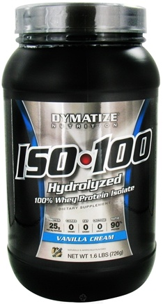 DROPPED: Dymatize Nutrition - ISO 100 100% Hydrolyzed Whey Protein Isolate Gourmet Vanilla - 1.6 lbs.