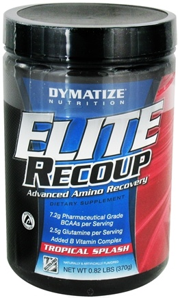DROPPED: Dymatize Nutrition - Elite Recoup Advanced Amino Recovery - 30 Servings Tropical Splash - 0.76 lbs. CLEARANCE PRICED