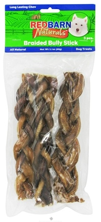 DROPPED: Redbarn - Natural Braided Bully Sticks Dog Chews 7 in. - 3 Pack CLEARANCE PRICED