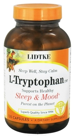 DROPPED: Lidtke Technologies - L-Tryptophan 500 mg. - 120 Capsules