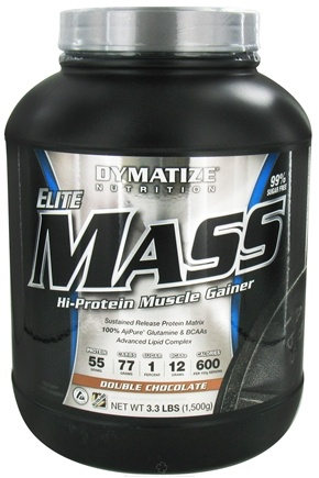 DROPPED: Dymatize Nutrition - Elite Mass Gainer Hi-Protein Muscle Gainer Double Chocolate - 3.3 lbs. CLEARANCE PRICED