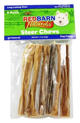 Redbarn - Natural Steer Sticks Dog Chews 5 in. - 6 Pack