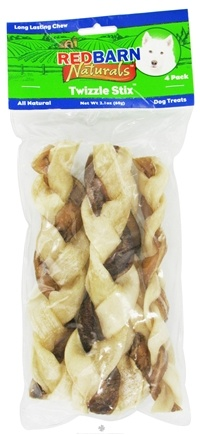 DROPPED: Redbarn - Natural Twizzle Stix Dog Chews 7 in. - 4 Pack CLEARANCE PRICED