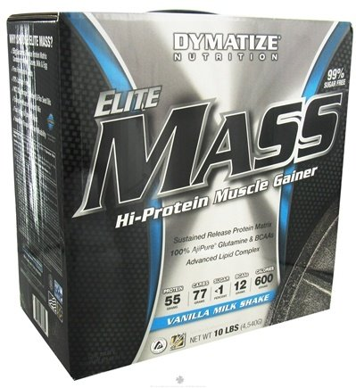 DROPPED: Dymatize Nutrition - Elite Mass Gainer Hi-Protein Muscle Gainer Vanilla Milkshake - 10 lbs. CLEARANCE PRICED