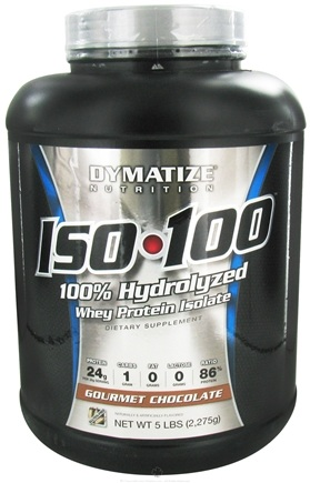 DROPPED: Dymatize Nutrition - ISO 100 100% Hydrolyzed Whey Protein Isolate Gourmet Chocolate - 5 lbs.