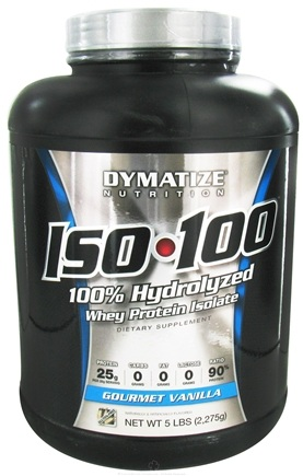 DROPPED: Dymatize Nutrition - ISO 100 100% Hydrolyzed Whey Protein Isolate Gourmet Vanilla - 5 lbs.