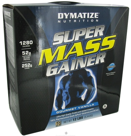 DROPPED: Dymatize Nutrition - Super Mass Gainer Powder Gourmet Vanilla - 12 lbs.