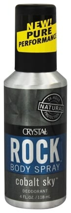 Crystal Body Deodorant - Rock Deodorant Men's Body Spray Cobalt Sky - 4 oz.