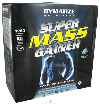 DROPPED: Dymatize Nutrition - Super Mass Gainer Powder Hardcore Chocolate - 12 lbs.
