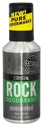 Crystal Body Deodorant - Rock Deodorant Men's Body Spray Unscented - 4 oz.