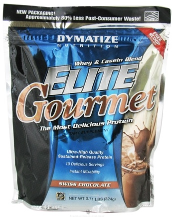 DROPPED: Dymatize Nutrition - Elite Gourmet Whey Casein Blend - 10 Servings Swiss Chocolate - 324 Grams CLEARANCE PRICED