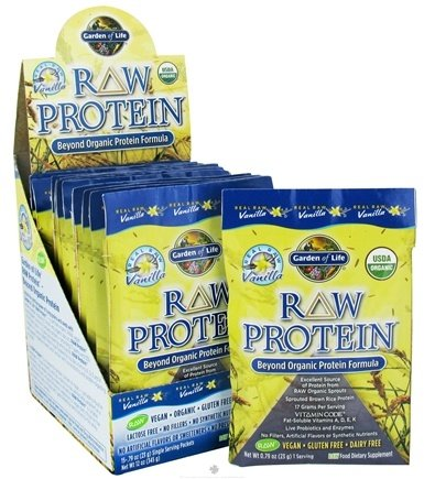 DROPPED: Garden of Life - RAW Protein Beyond Organic Protein Formula (15 x 23 g) Vanilla - 15 Packet(s) - (345 g) CLEARANCE PRICED