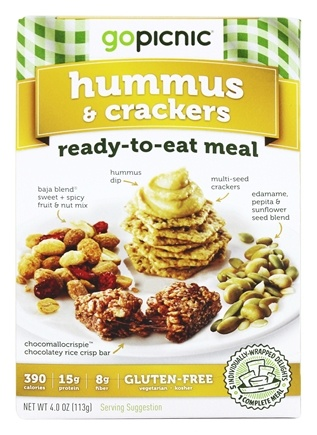 GoPicnic - Ready to Eat Meal Hummus & Crackers - 4.4 oz.