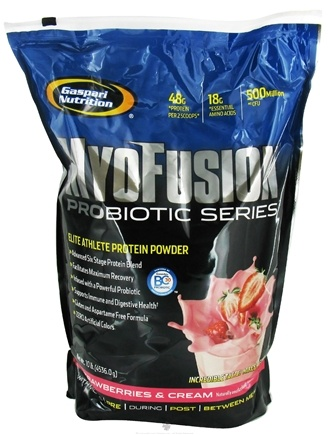 DROPPED: Gaspari Nutrition - MyoFusion Probiotic Series Protein Strawberries & Cream - 10 lbs. CLEARANCE PRICED
