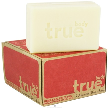 DROPPED: True Body - Bar Soap (3 x 4.5 oz) Bars Unscented - 3 Bars (13.5 oz)