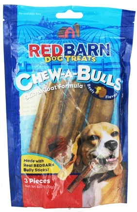 DROPPED: Redbarn - Chew-A-Bulls Dog Chews 6 in. Beefy Flavor - 3 Pack CLEARANCE PRICED