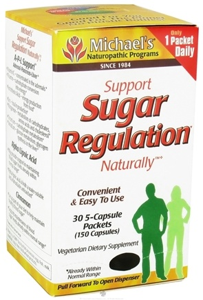 DROPPED: Michael's Naturopathic Programs - Sugar Regulation - 30 X 5-Capsule Packets - CLEARANCE PRICED