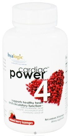 DROPPED: Hyalogic - Cardiac Power 4 Mixed Berry - 30 Lozenges
