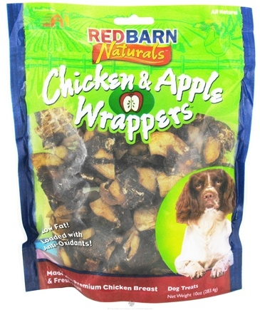 DROPPED: Redbarn - Chicken & Apple Wrappers Dog Treats - 10 oz.