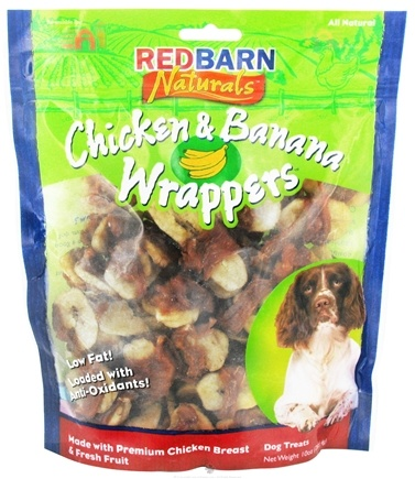 DROPPED: Redbarn - Chicken & Banana Wrappers Dog Treats - 10 oz. CLEARANCE PRICED