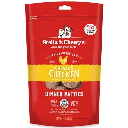 Stella & Chewy's - Freeze-Dried Dog Food Chewy's Chicken Dinner - 15 oz.