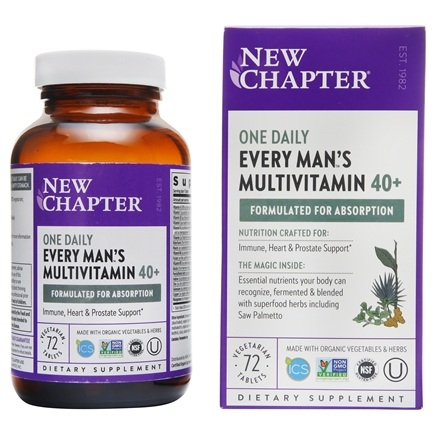 New Chapter - Every Man's One Daily 40+ - 72 Tablets