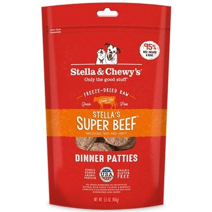 DROPPED: Stella & Chewy's - Freeze-Dried Dog Food Stella's Super Beef Dinner - 6 oz. CLEARANCE PRICED
