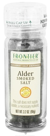 DROPPED: Frontier Natural Products - Gourmet Salt Grinder Alder Smoked Salt - 3.2 oz. CLEARANCE PRICED