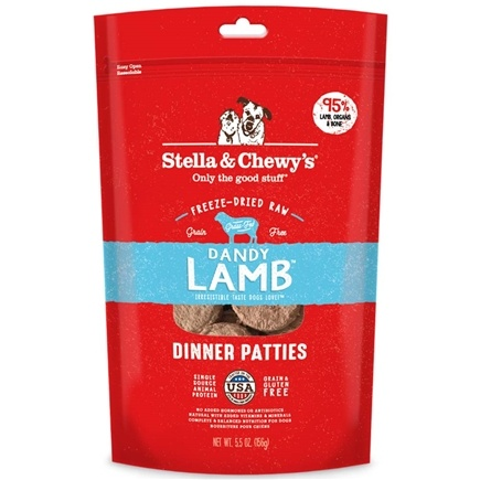 DROPPED: Stella & Chewy's - Freeze-Dried Dog Food Dandy Lamb Dinner - 6 oz.