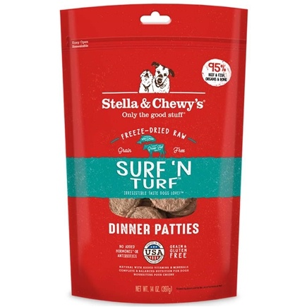 Stella & Chewy's - Freeze-Dried Dog Food Surf 'N Turf Dinner - 15 oz.