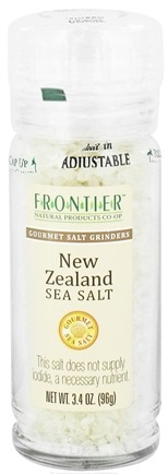 DROPPED: Frontier Natural Products - Gourmet Salt Grinder New Zealand Sea Salt - 3.4 oz. CLEARANCE PRICED