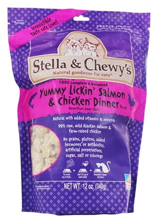 Stella & Chewy's - Freeze-Dried Cat Food Yummy Lickin' Salmon & Chicken Dinner - 12 oz.