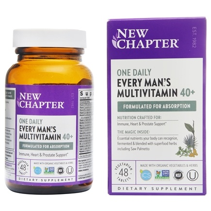 New Chapter - Every Man's One Daily 40+ - 48 Tablets
