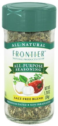 DROPPED: Frontier Natural Products - All-Purpose Seasoning Salt-Free Blend - 1.2 oz. CLEARANCE PRICED