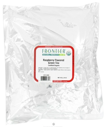 DROPPED: Frontier Natural Products - Bulk Green Tea Organic Raspberry - 1 lb. CLEARANCE PRICED