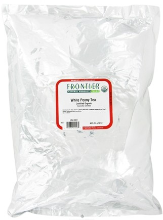 DROPPED: Frontier Natural Products - Bulk White Peony Tea Organic - 1 lb. CLEARANCE PRICED