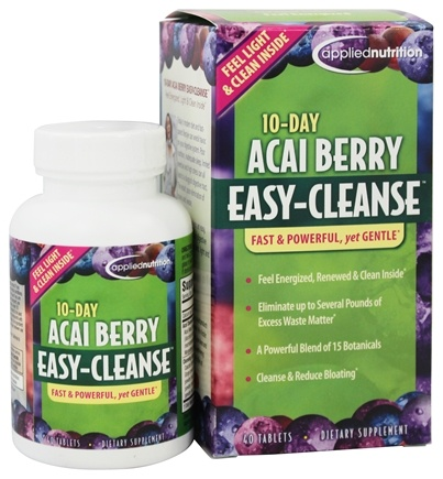Applied Nutrition - 10-Day Acai Berry Easy Cleanse - 40 Tablets