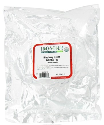 DROPPED: Frontier Natural Products - Bulk Green Kukicha Tea Organic Blueberry - 1 lb. CLEARANCE PRICED